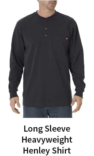 Long Sleeve Heavyweight Henley Shirt