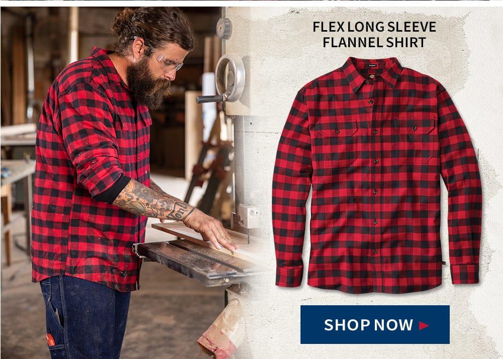 Flex Long sleeve Flannel Shirt