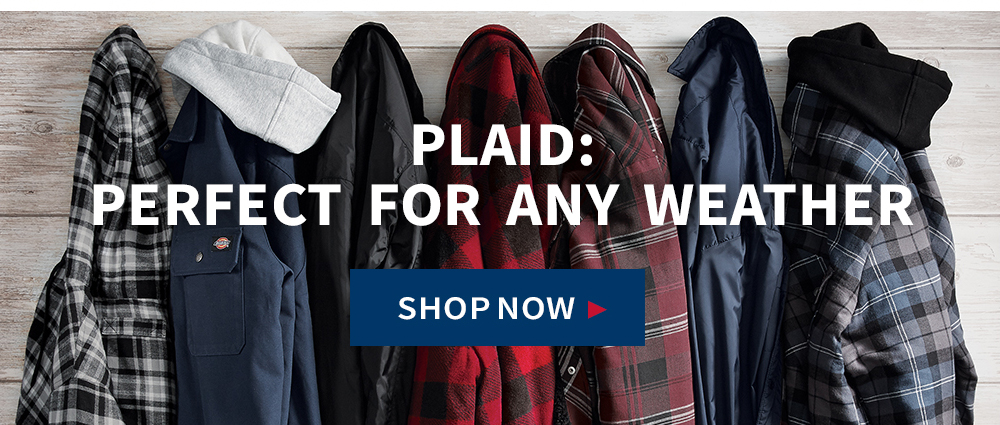 Plaid: Perfect for any weather. Shop Now