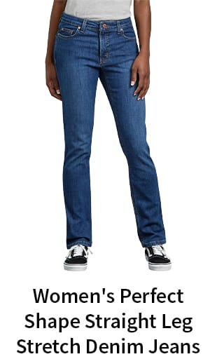 Women's Perfect Shape Straight Leg Stretch Denim Jeans
