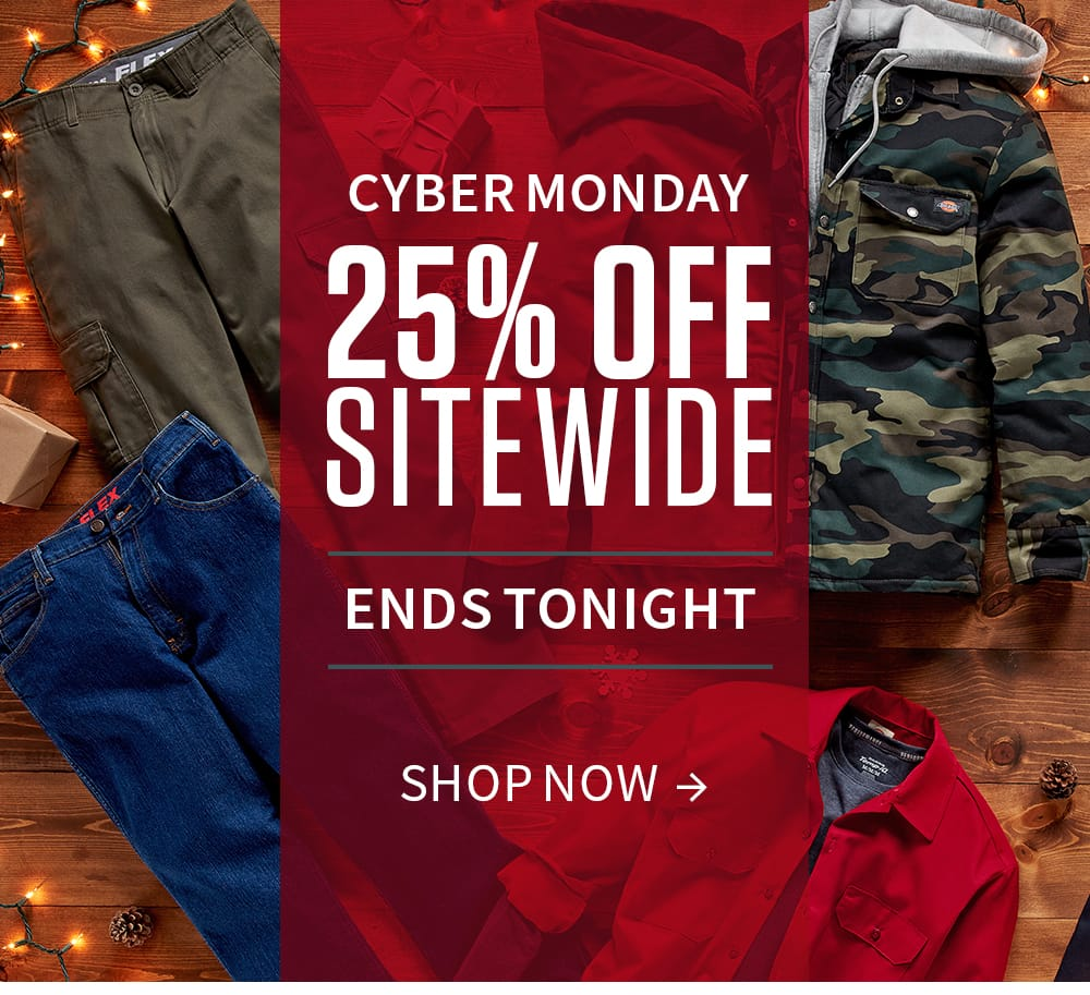 Cyber Monday. 25% off sitewide. Shop Now.