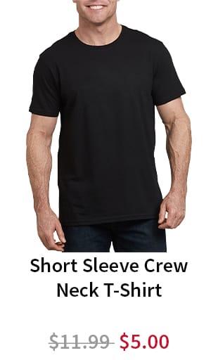 Short Sleeve Crew Neck T-Shirt. Now $5.00