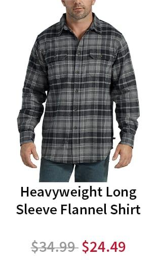 Heavyweight Long Sleeve Flannel Shirt. Now $24.29