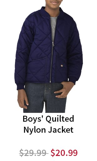 Boys' Quilted Nylon Jacket. Now $20.99