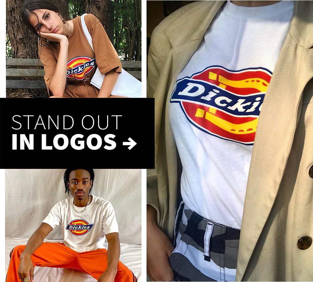 Stand out in logos