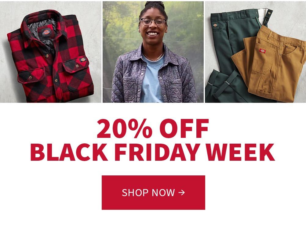 20% off. Black Friday week. Shop now.